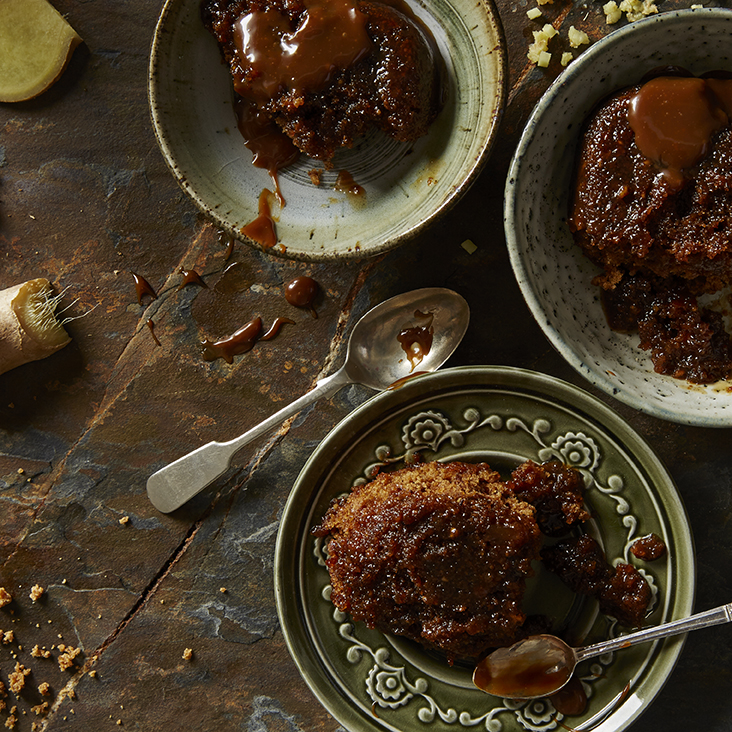 Toffee and Ginger Parkin | Stacy Grant Food Photographer