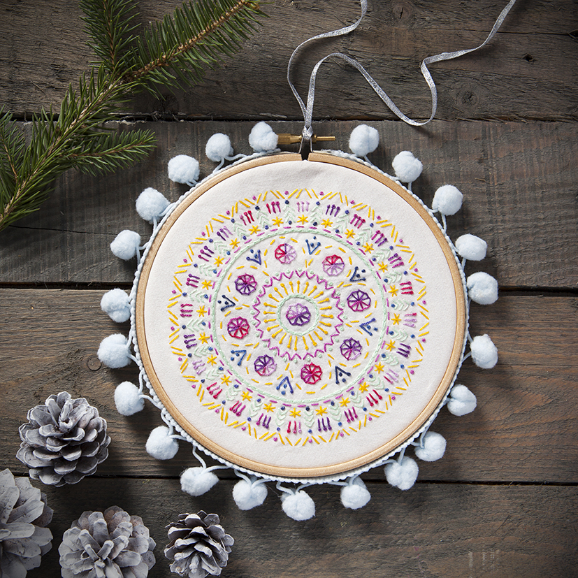 Winter Solstice | Mandalas to Embroider | Stacy Grant Craft Photography