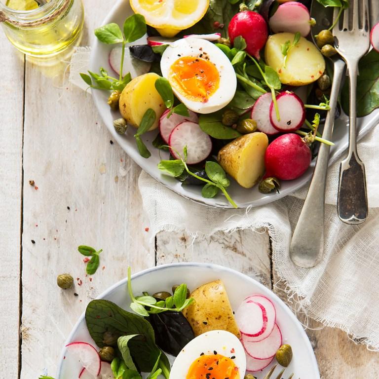 Boil Egg Spring Salad | Vegetarian | Stacy Grant | Food Photographer | UK