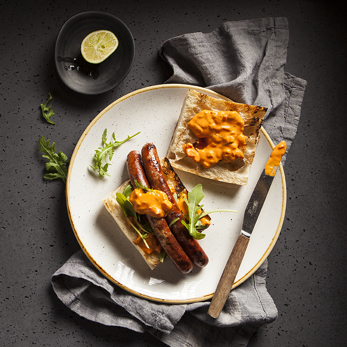 Merguez Sausage | X-Upper | Menu | Stacy Grant Photography