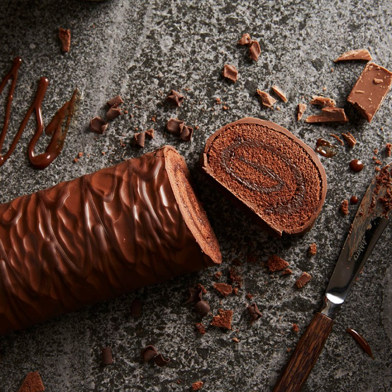 Chocolate Swiss Roll | Stacy Grant Food Photographer UK