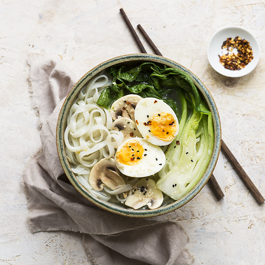 Miso Noodle bowl | Stacy Grant | Food Photographer UK