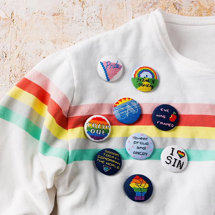 Tom Katsumi | Gay Pride | XStitch | Stacy Grant Craft Photographer