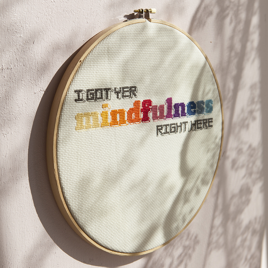 Mindfulness | Mr X Stitch | Cross stitch | Stacy Grant Photography