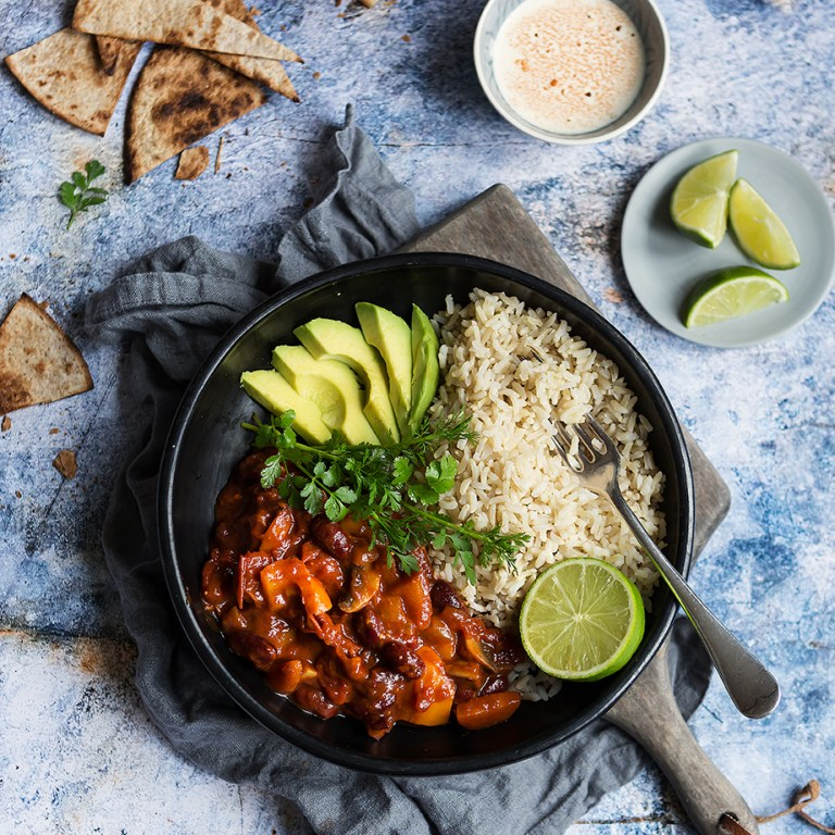 Vegan Chilli | Meat Free Monday | 10 years | Stacy Grant Food Photographer
