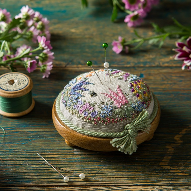 Pin_Cushion_craft_embroidery_floral_StacyGrant_photographer