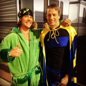 Rory with Tony Hawk.