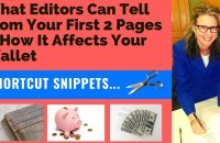❌❌❌What Editors Can Tell From Your First 2 Pages & How it Affects Your Wallet