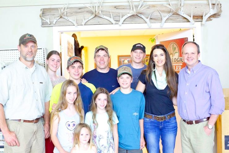 Harris Family with Toxey Haas and Bobby Cole of Mossy Oak