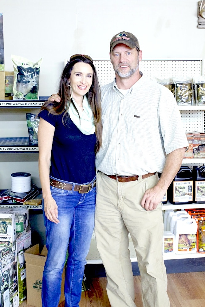 Stacy with Toxey Haas, founder of Mossy Oak