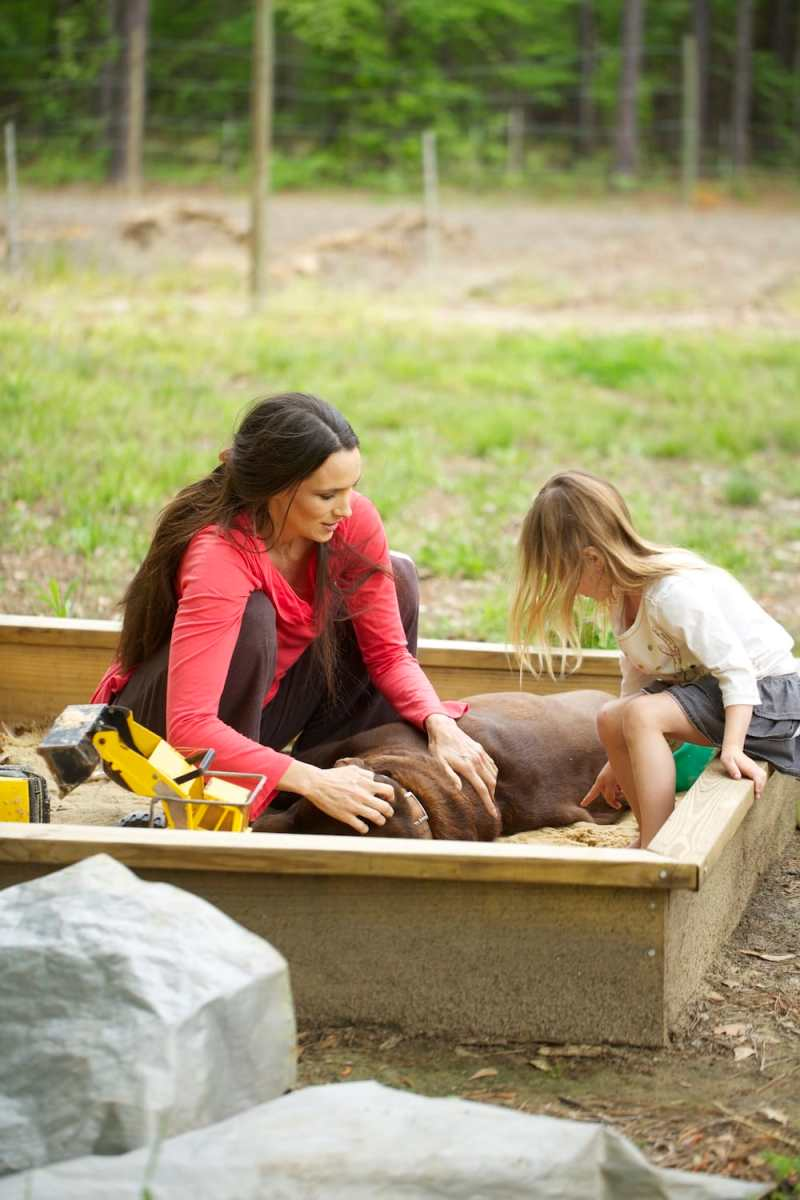 Stacy and Milly in the Sandbox having Fun!