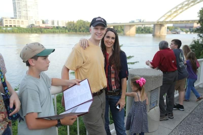 Stacy and Hunter in Cincinnati