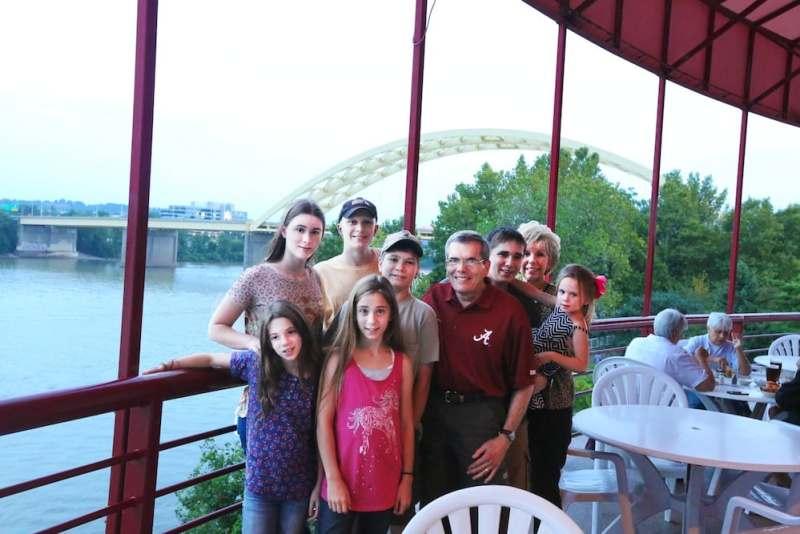 Family at Montgomery Inn in Ohio