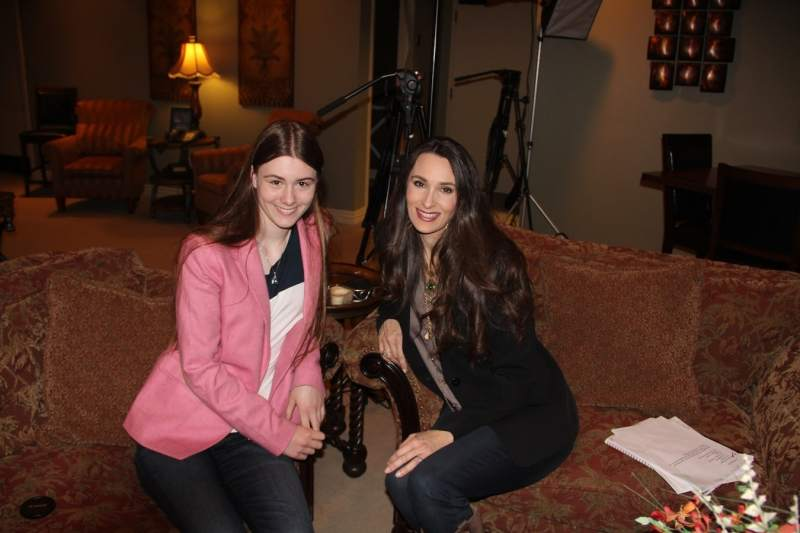 Graylyn and I in the Green Room at Daystar in Dallas.