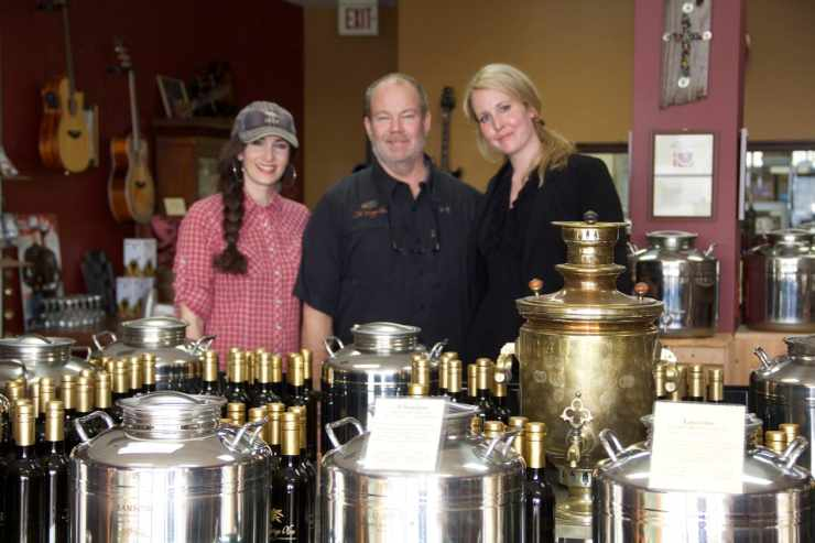 Ed and Carley Gannon - owners of the fantastic Vintage Olive! The are experts in everything olive oil and balsamic vinegars.