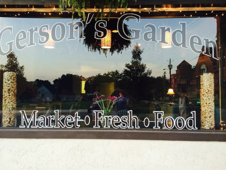 Gerson's Garden's is a quant restaurant using all local ingredients mostly from their own garden.