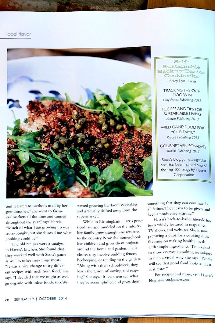 """Stacy Lyn shares with Alabama Magazine, """"We started growing heirloom vegetables and started drifting away from supermarkets."""""""