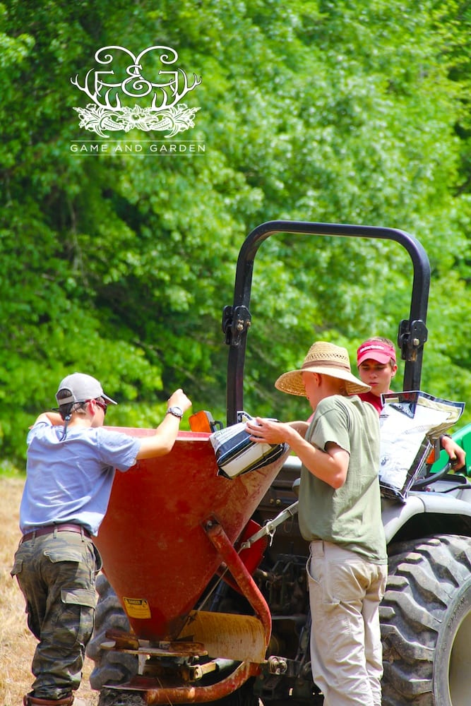 Our family puts on the calendar a major planting weekend for our gardens and a food plot planting weekend for our fields.