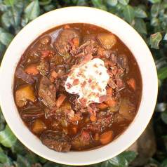 Dutch Oven Venison and Pumpkin Stew Recipe