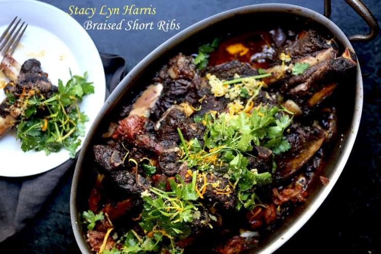 Braised Short Ribs with Ginger Gremolata