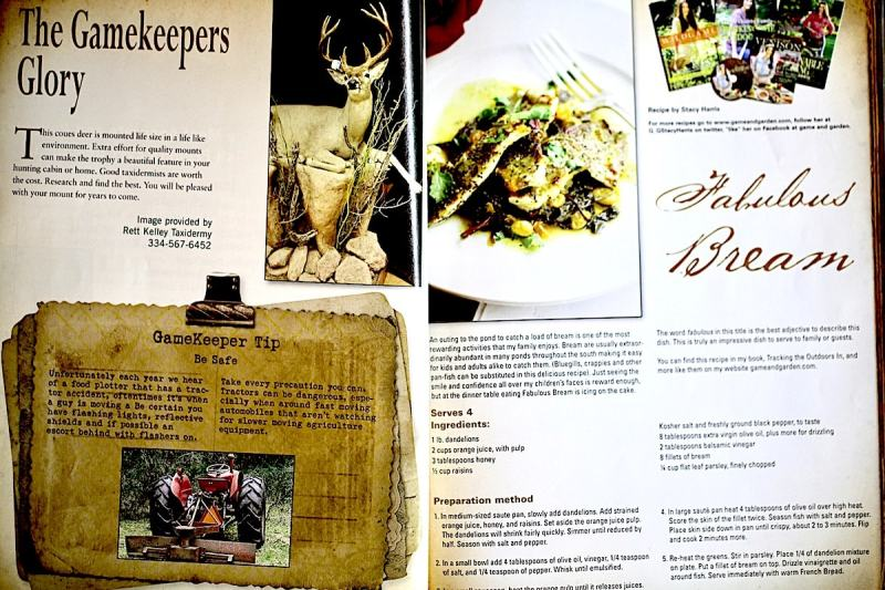 You can find the recipe I wrote for Mossy Oak Gamekeepers Magazine in Happy Healthy Family Tracking the Outdoors In Cookbook by me, Stacy Lyn!