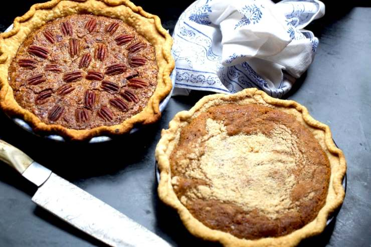 Bourbon Pecan Pie and Spicy Southern Pie