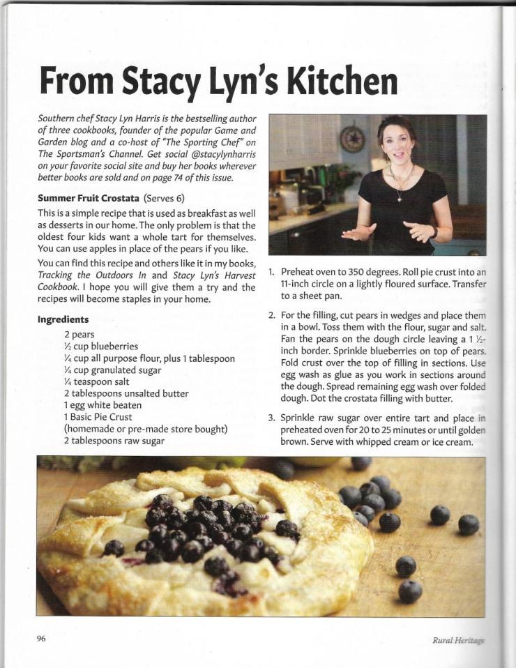Featured Recipe in Rural Heritage