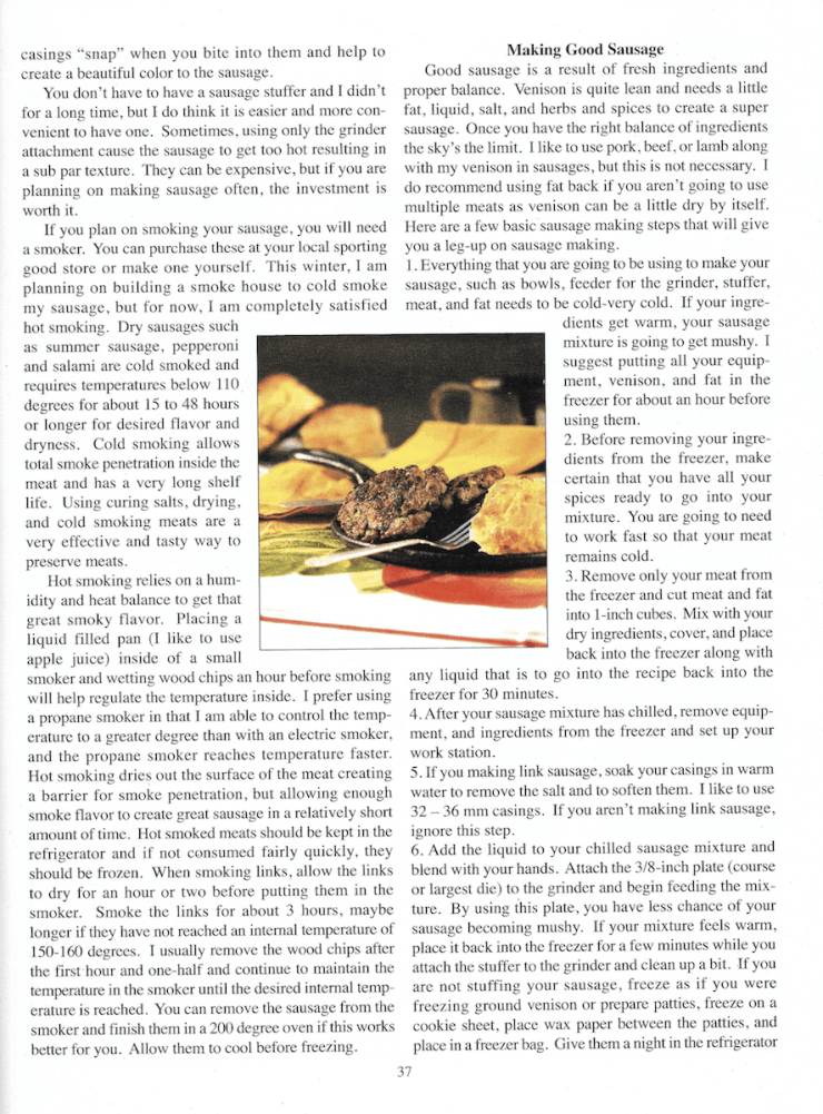 """Backwoodsman Magazine features Stacy Lyn's """"Art of Sausage Making."""""""