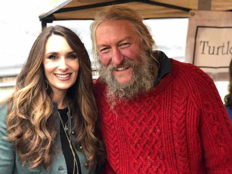 Stacy Lyn Harris with Eustace Conway from Mountain Men on the History Channel