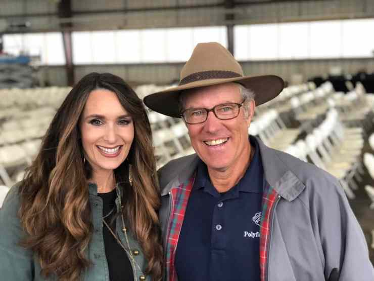 Stacy Lyn Harris with Joel Salatin from Polyface Farms