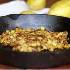 Crispy homemade hash browns, recipe by Stacy Lyn Harris