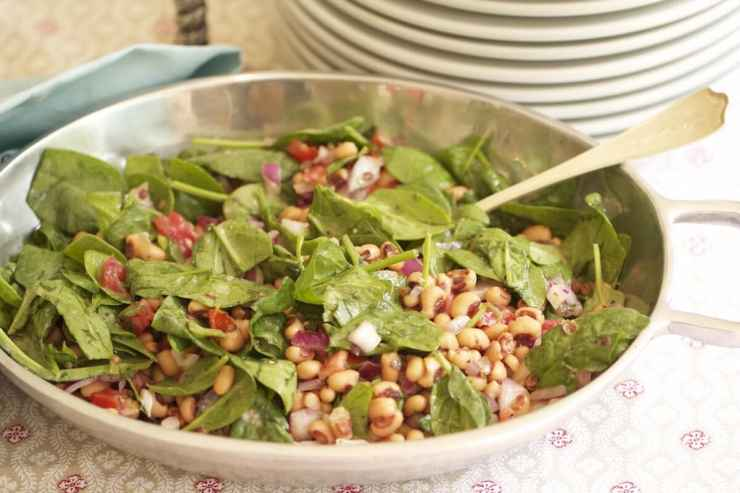 Black-eyed peas salad, recipe by Stacy Lyn Harris