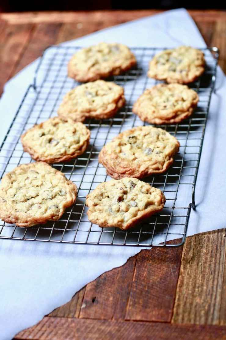 Chocolate chip oatmeal pecan cookies, also known as cowboy cookies, recipe by stacy lyn harris