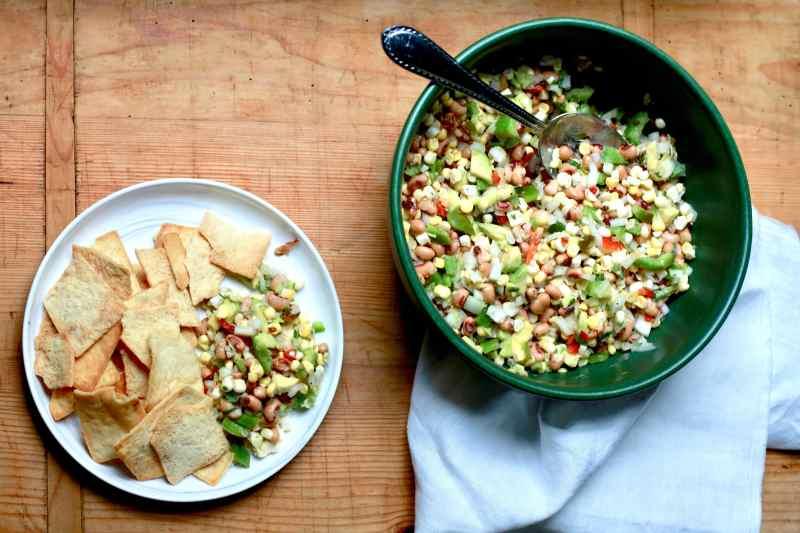 Black-Eyed Pea, Corn, and Avocado Chutney