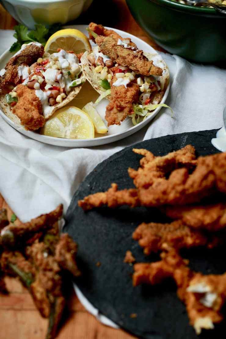 creole fried catfish tacos recipe