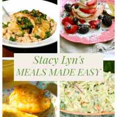 Stacy Lyn's Meals Made Easy: crappie with beans, coleslaw, cornbread, and strawberry shortcake.