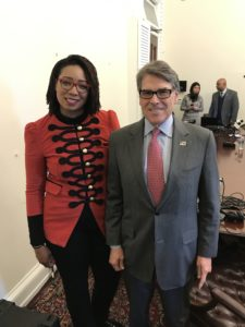 Stacy Washington and Secretary of Energy Rick Perry