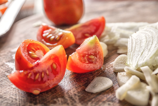 Healthy Eating Made Easy: A quick tomato based side dish to bring to the party for busy people.