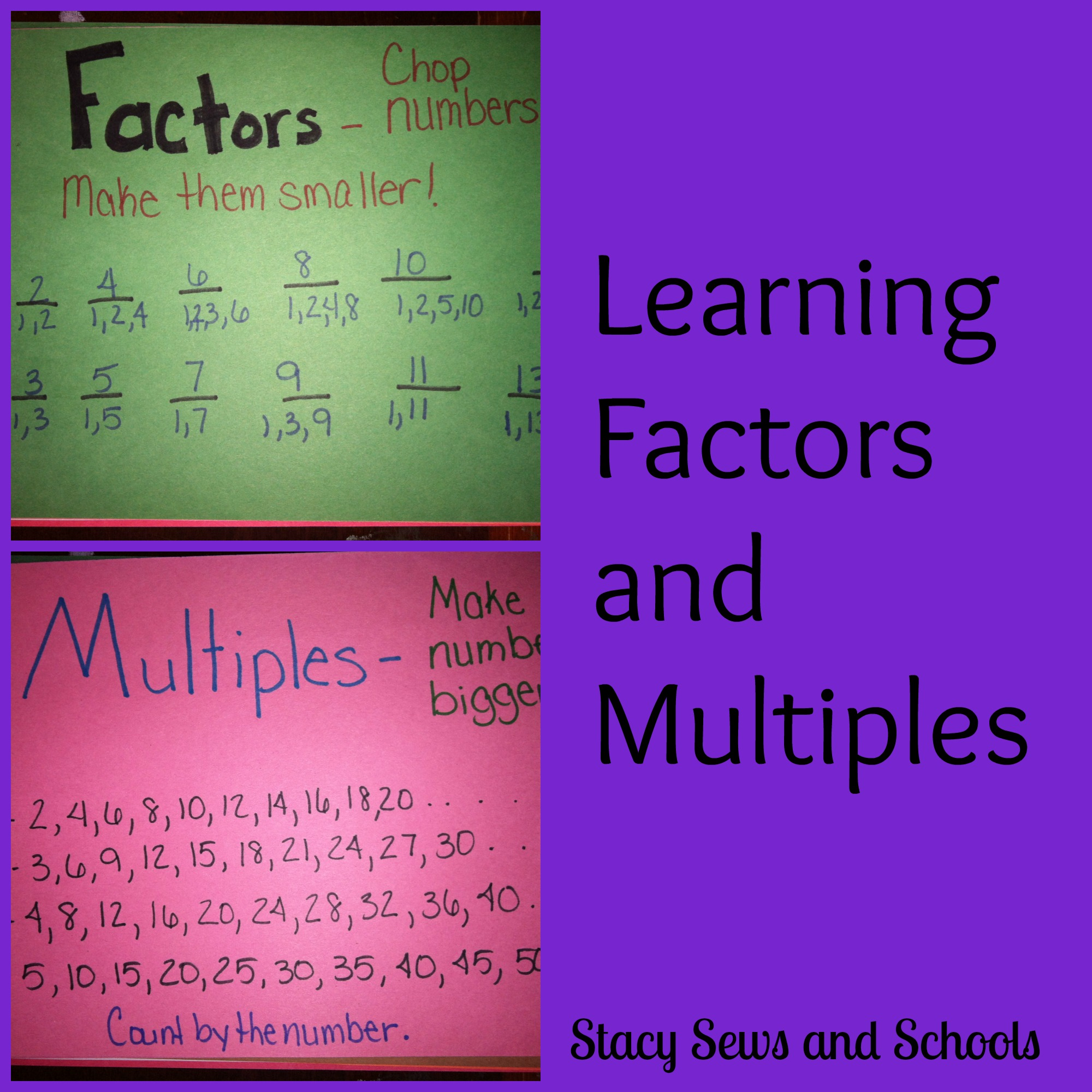 Stacy Sews And Schools Learning Factors And Multiples And
