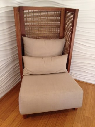 Chair with Wicker Back