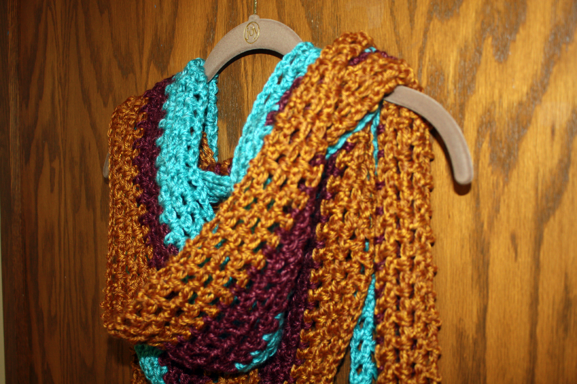 Extra Long Tri-Color Crochet Scarf Pattern - Stacy\'s Stitches