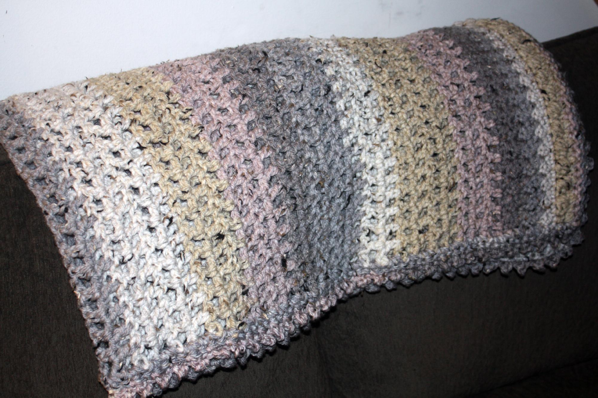 Caron Cake Crochet Blanket Free Pattern Snowy Day Throw Stacys