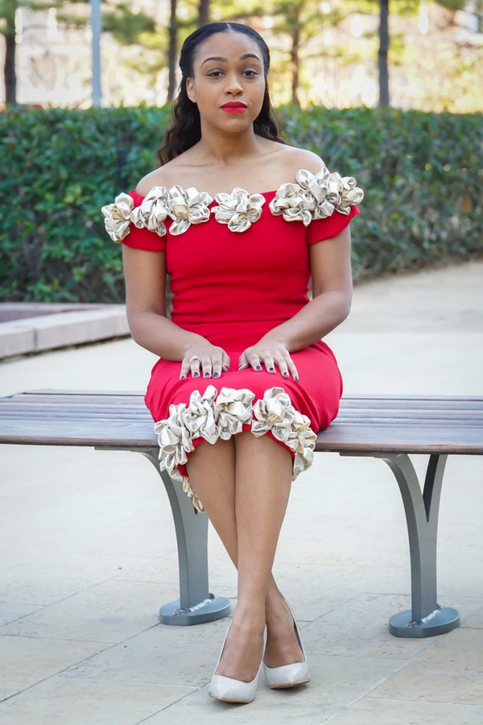 red, dress, flowers, feminine, beauty, classic, beauty, glam, old fashion hollywood