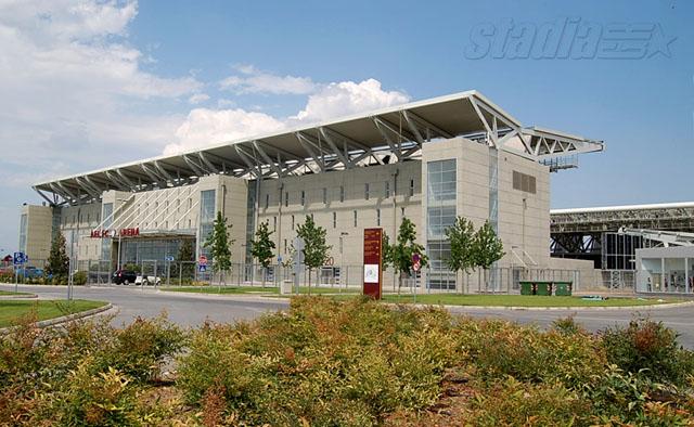 Εξωτερική άποψη του AEL FC Arena - Click για μεγέθυνση!