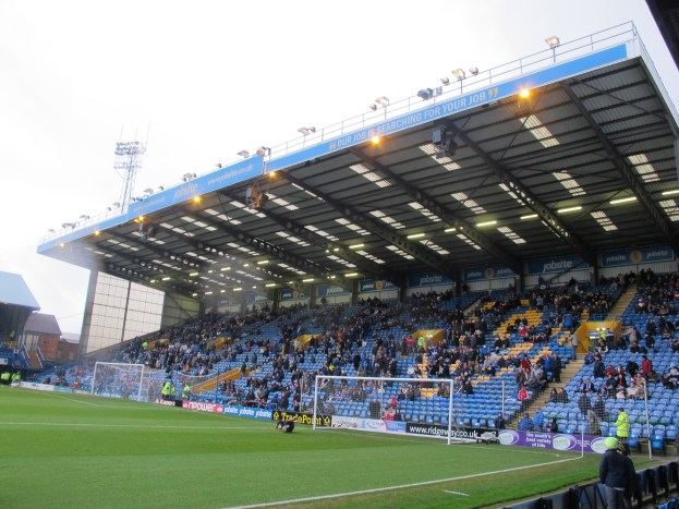 The Fratton End fills up pre-match – it impressed all afternoon. (Photo: Stadiafile)