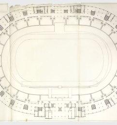 floor plan of the national stadium source archivo minvu [ 1280 x 920 Pixel ]