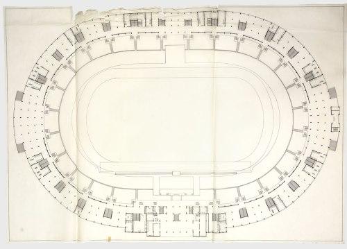 small resolution of floor plan of the national stadium source archivo minvu
