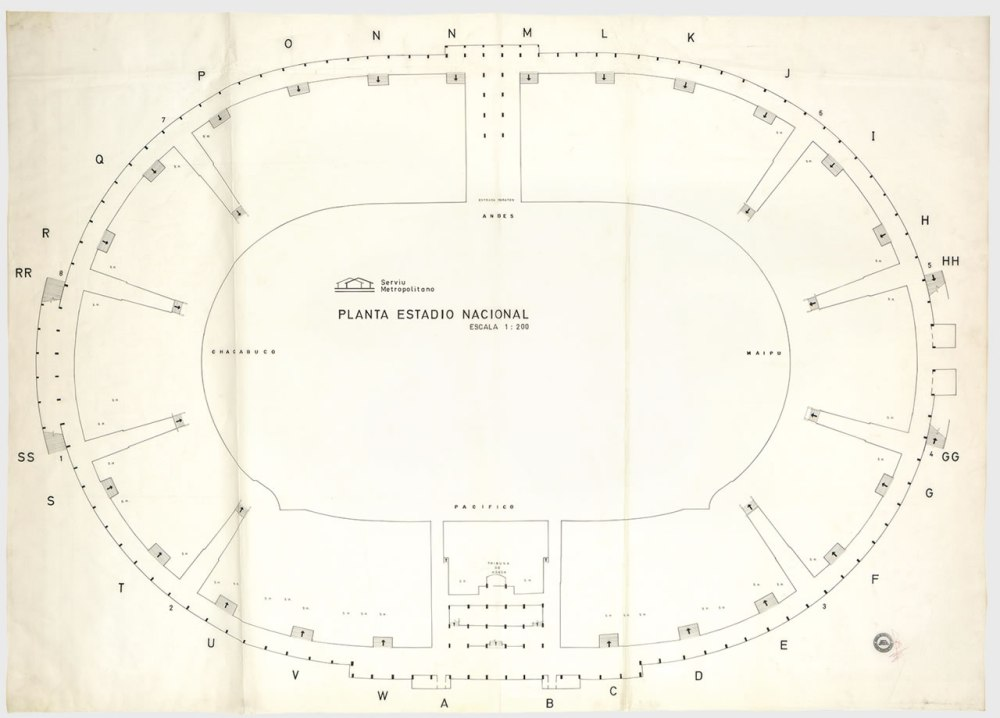 medium resolution of floor plan of the national stadium source archivo minvu