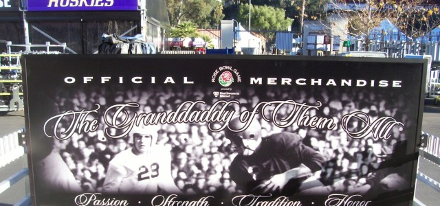 2019 Rose Bowl merchandise signage