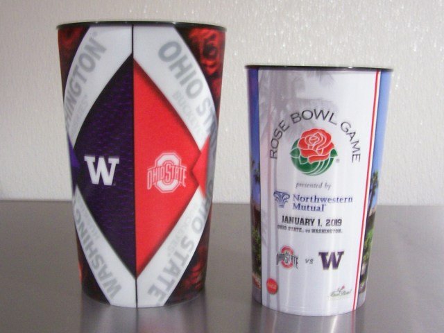 2019 Rose Bowl Souvenir Cups (back)